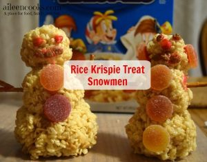 Cooking With Kids: Rice Krispie Treat Snowmen