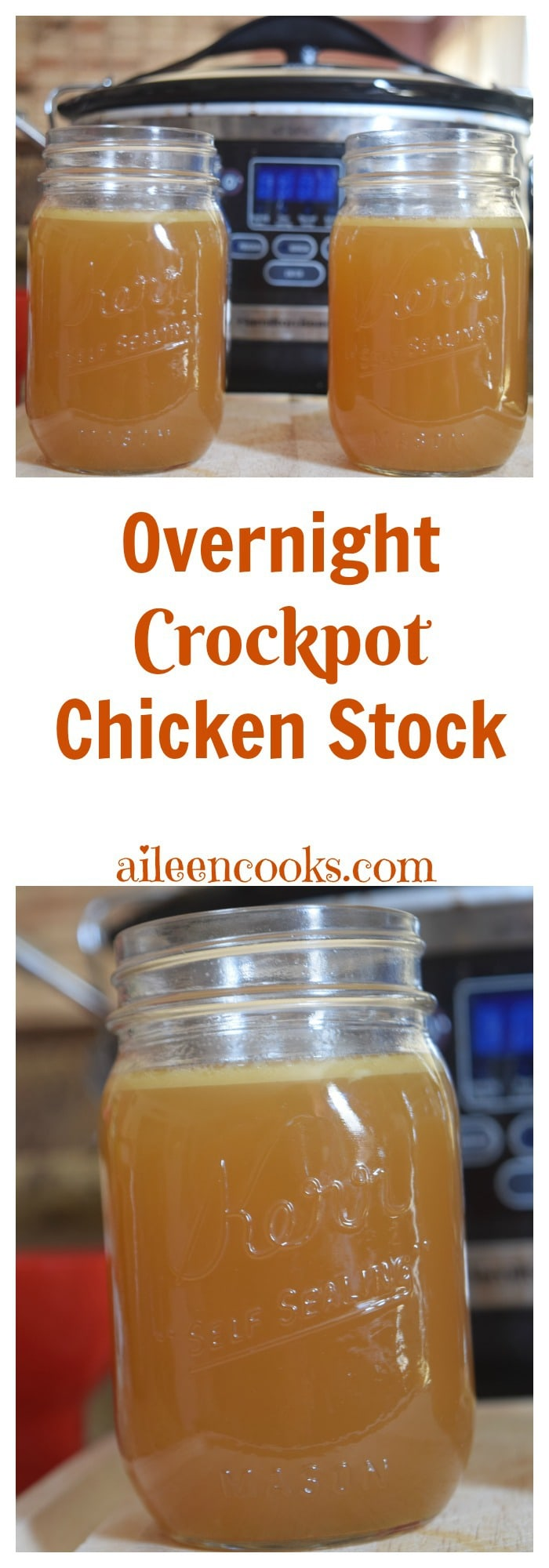 The easiest way to make your own homemade chicken stock - while you are sleeping!