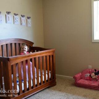 Small space nursery room reveal. Lavender and Pink nursery. Girls room reveal.