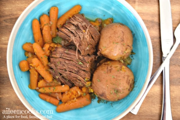Make Sunday dinner in less time with this recipe for instant pot pot roast.