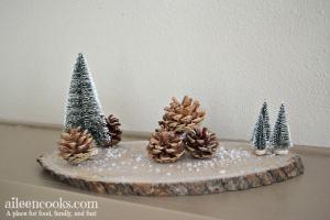 Rustic Winter Centerpiece