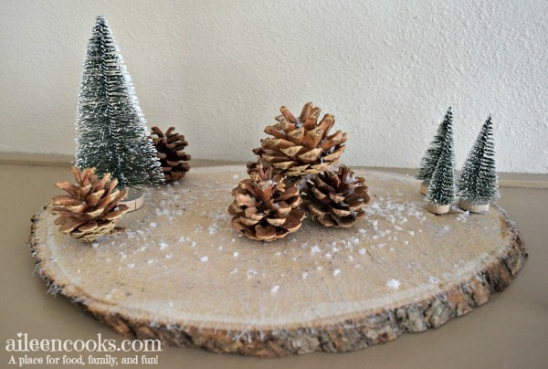 rustic winter centerpieces by Aileen Cooks