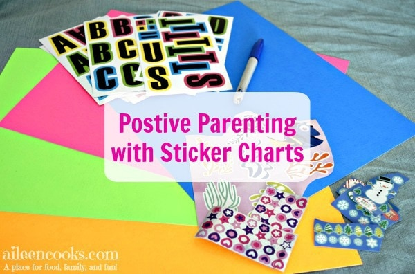 Parenting your child with positive reinforcement using sticker charts.