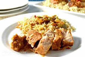 Hawaiian pork loin and rice