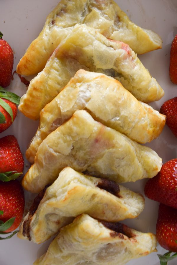 Stacked Strawberry Nutella Turnovers