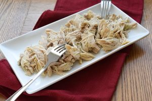 shredded chicken breast made in the instant pot.