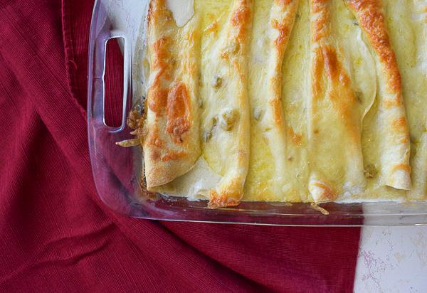 Easy Sour Cream Chicken Enchiladas