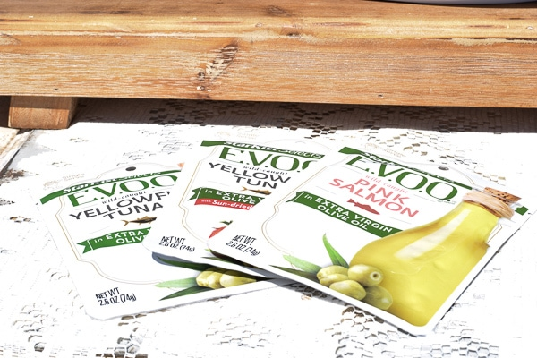 All three flavors of StarKist Select EVOO to be featured in the tuna recipes and salmon recipes.