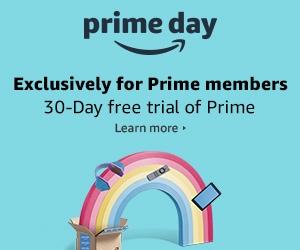 Amazon prime day 2018 banner with rainbow