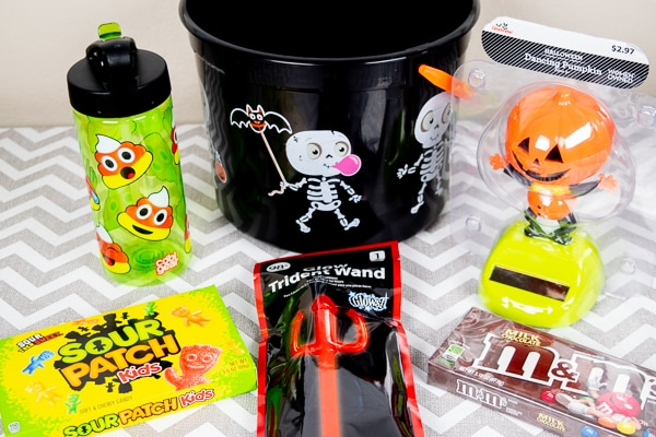 A BOO Basket ready to be filled for a tween boy.