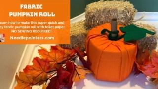 How to Make a Fabric Pumpkin (Toilet Paper Roll Pumpkin)