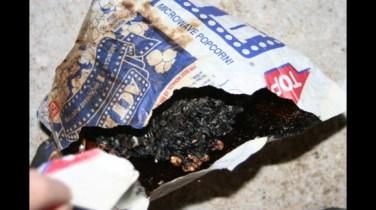 burned popcorn