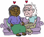 interracial couple older adults