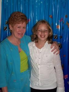 Margaret & Mrs. Jones on Margaret's last day at Oakley Elementary