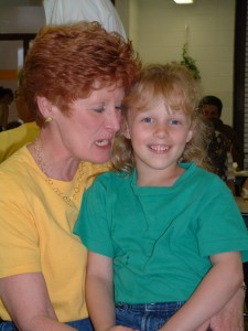 My youngest daughter on Kindergarten Celebration Day in 2004