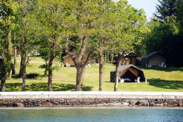Luxury tents at Dromquinna Manor