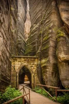 The Adrspach-Teplice Rocks of the Czech Republic Photo: Luzux