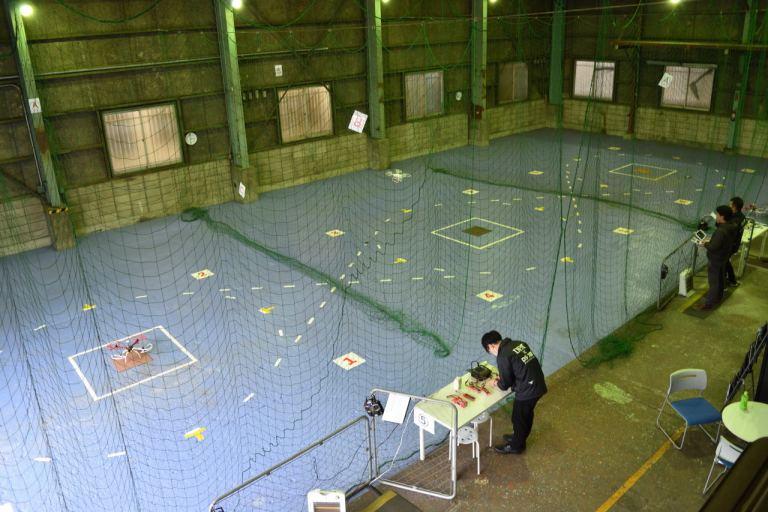 ドローンスクールジャパン東京中目黒校の練習場
