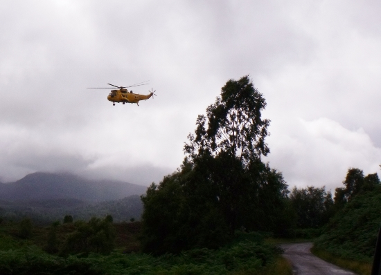 search and rescue sea king helicopter