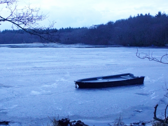 boat om a frozen loch - Ailish Sinclair, author