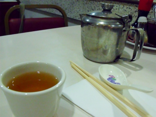 jasmine tea at Wong Kei, London. Ailish Sinclair | Author