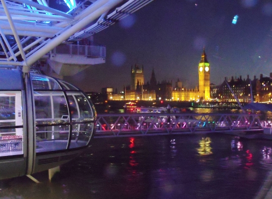 London Eye at night. UK. Ailish Sinclair | Author