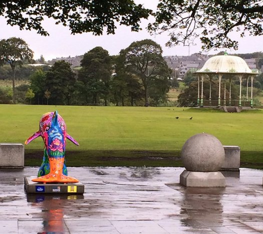 The Duthie Park bandstand, in rainy Aberdeen.