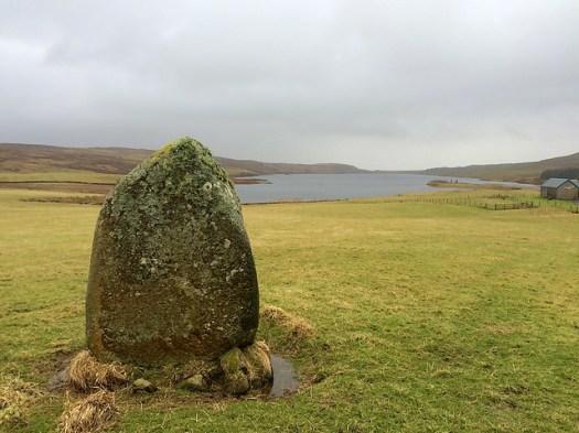 standing stone at Finlaggan, Islay