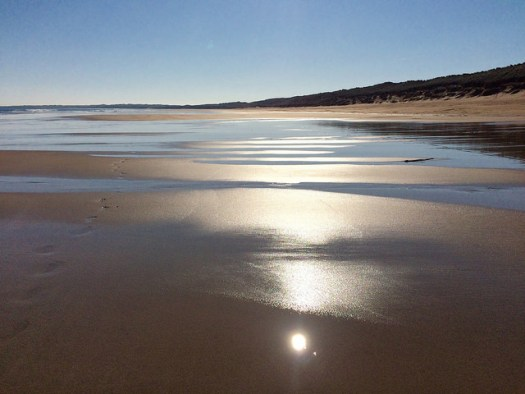 glistening sand