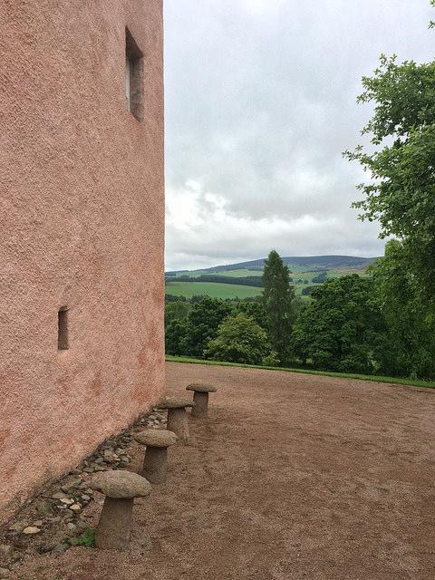 Scottish castle: stone mushrooms at Craigievar