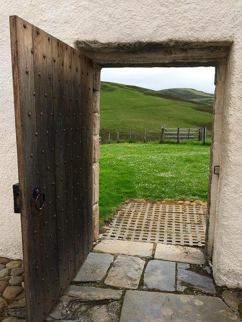 door to a Scottish castle...