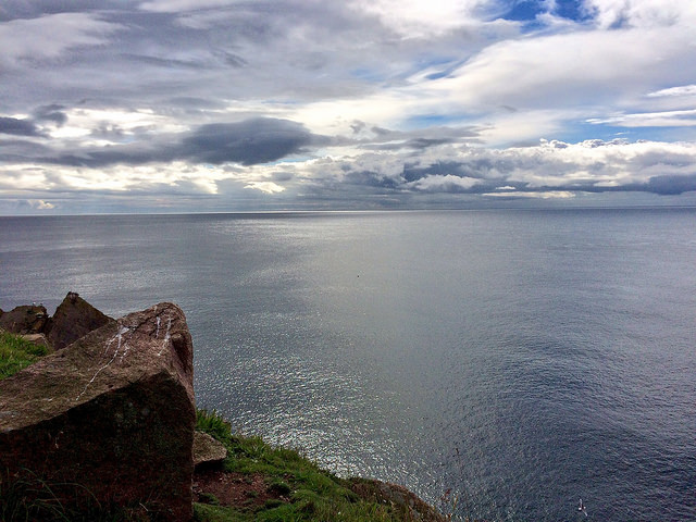 The coast at the Bullers of Buchan - Ailish Sinclair, author