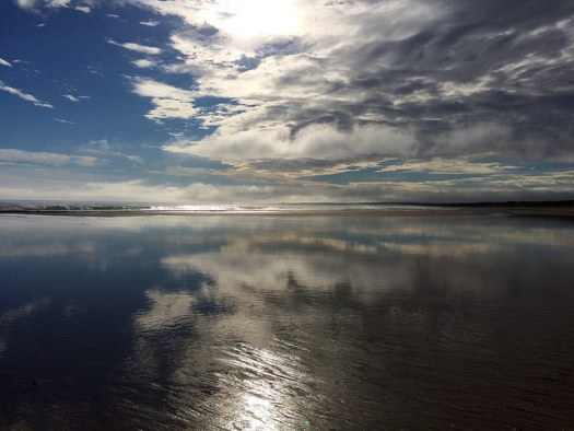 Fraserburgh beach - reflections at the coast