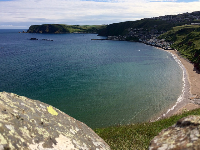 The coast as seen from the walls of St John's Kirk, Gamrie - Going Coastal with Ailish Sinclair