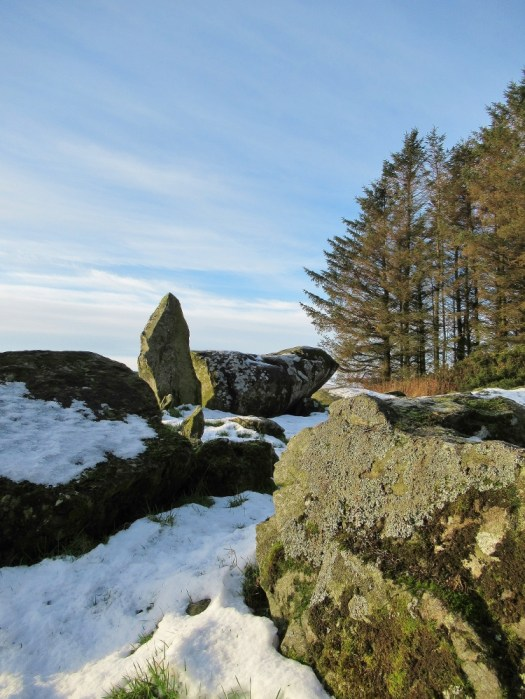 Down on the ground with the stones at Aikey Brae Stone Circle. Ailish Sinclair | Writer