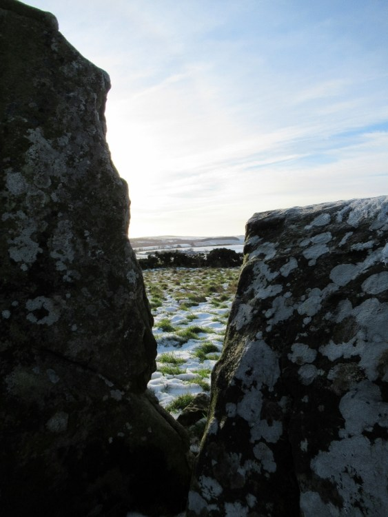 Looking through the stones to the landscape beyond