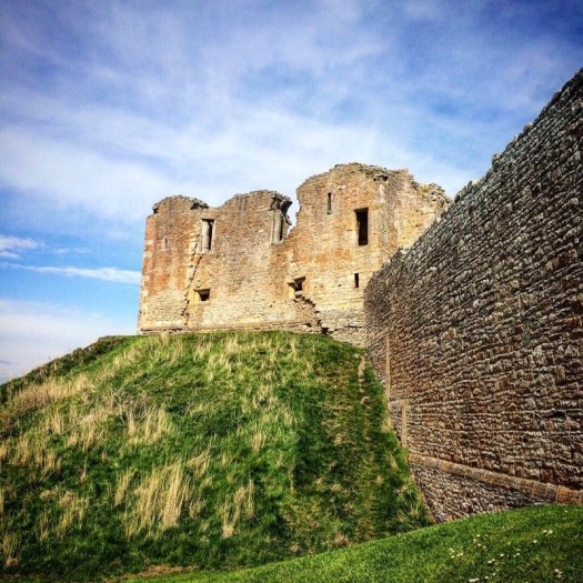 View of Duffus Castle from the moat