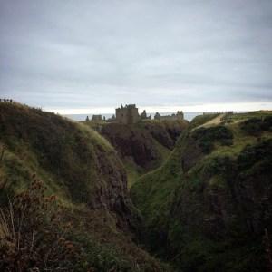 Dunnottar Castle on the cliffs