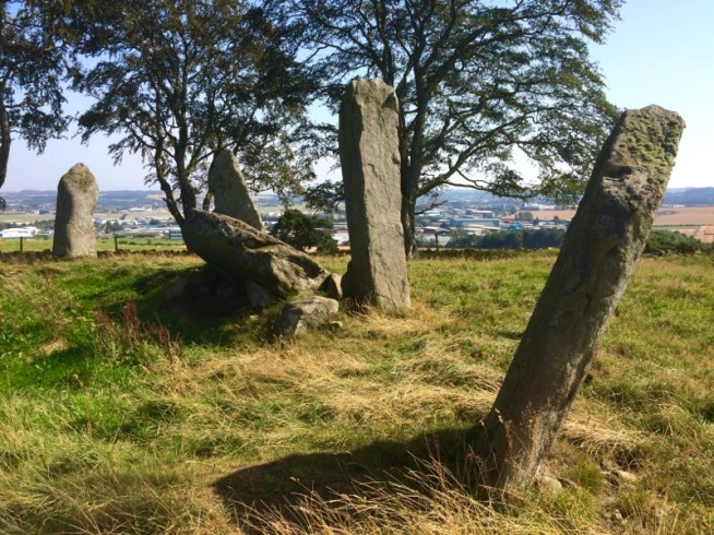 Leaning stones at Tyrebagger