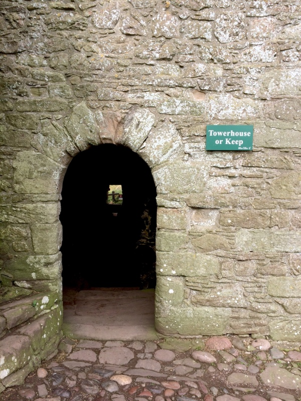 The door to the Keep at Dunnottar Castle