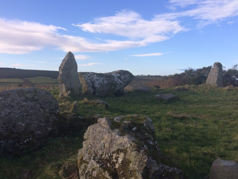 The stone circle at Aikey Brae