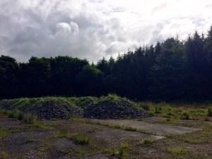 Demolished building in Lenabo woods