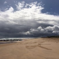 Stormy Skies over St Combs Beach