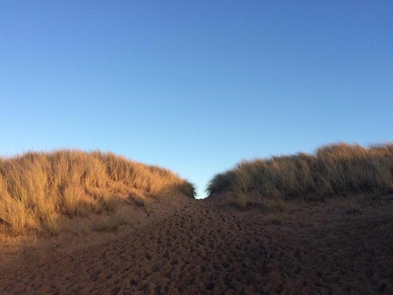 Walking the dunes on Balmedie Beach