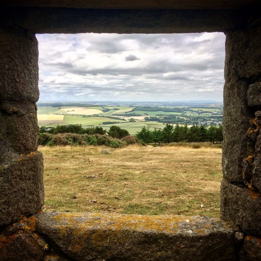 View from the hunting lodge on top of Mormond Hill in Aberdeenshire, Scotland.