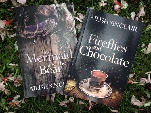 Ailish Sinclair's novels, among pink petals