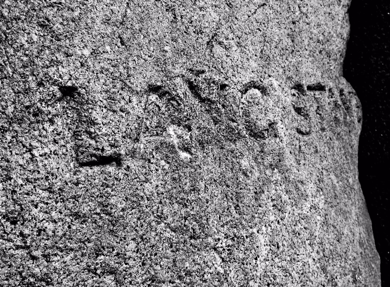Inscription on the Lang Stane