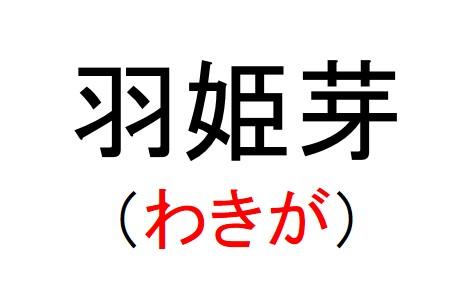 74_羽姫芽(わきが)