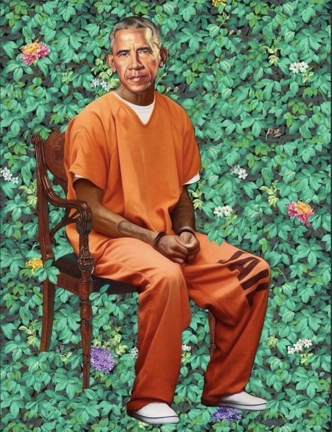 Obama in orange