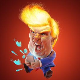 Trump on fire